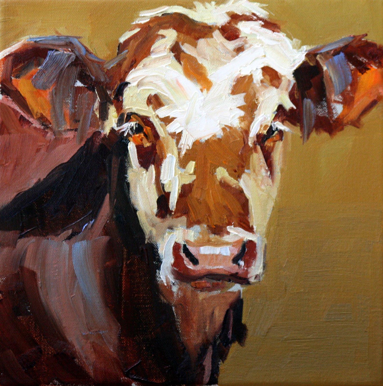 """pitt of the pasture"" original fine art by Carol Carmichael"