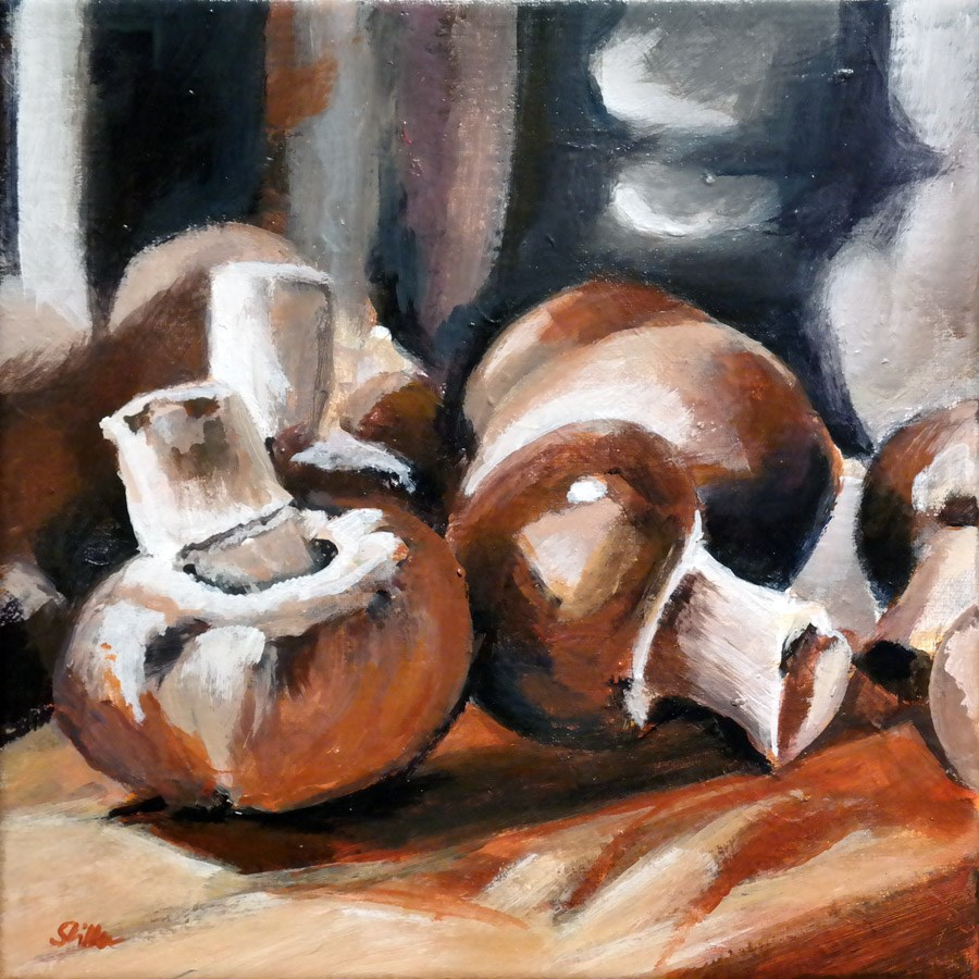 """1566 Champignons"" original fine art by Dietmar Stiller"