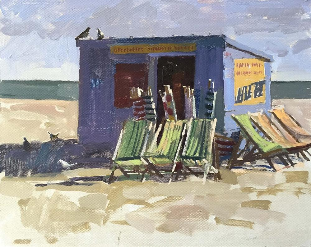 """Dusty's deckchair shack"" original fine art by Haidee-Jo Summers"