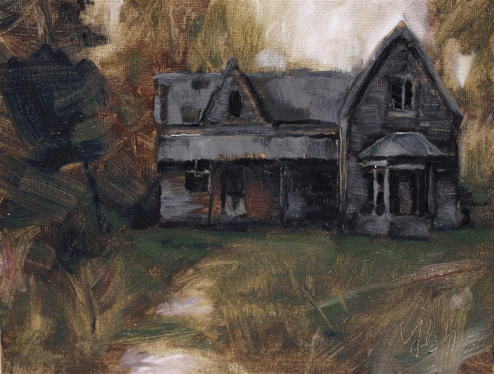 """Old House"" original fine art by Yuehua He"