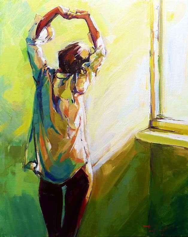 """good morning"" original fine art by Jurij Frey"