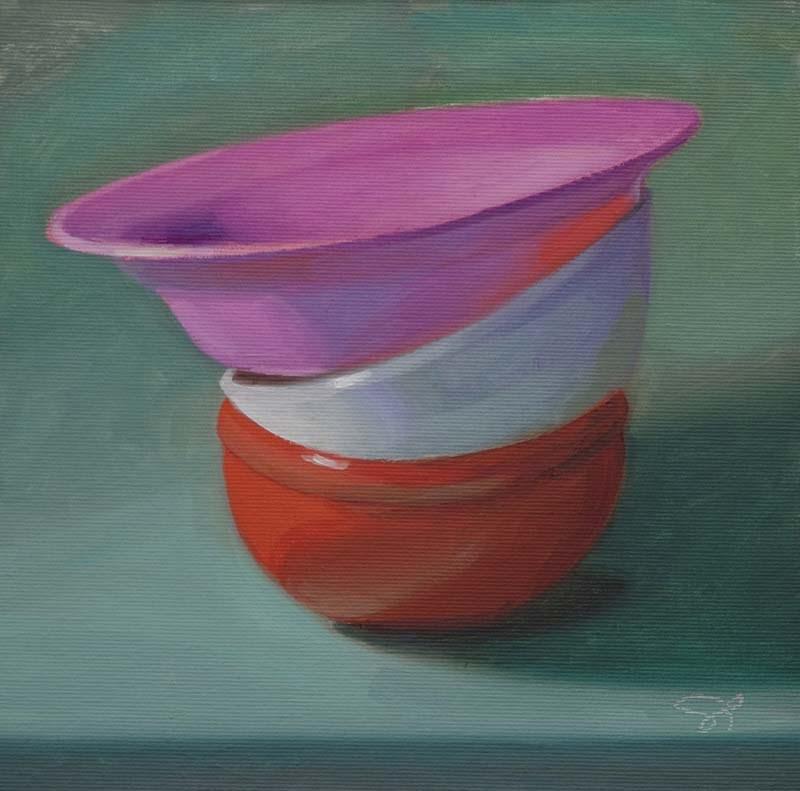 """""""Colorful emptiness"""" original fine art by Istvan Schaller"""