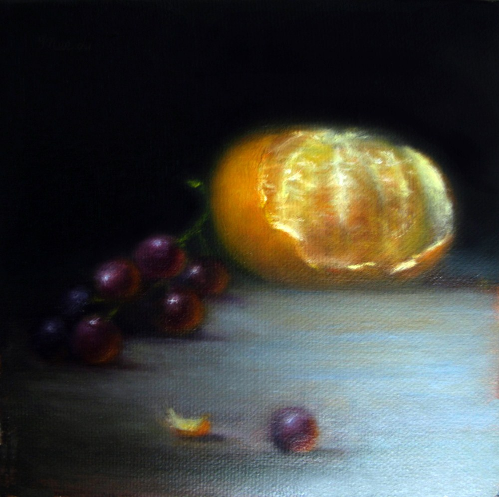 """Tangerine"" original fine art by MeeLi Lee"
