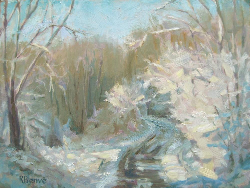 """""""Snow and Trees"""" original fine art by Robie Benve"""