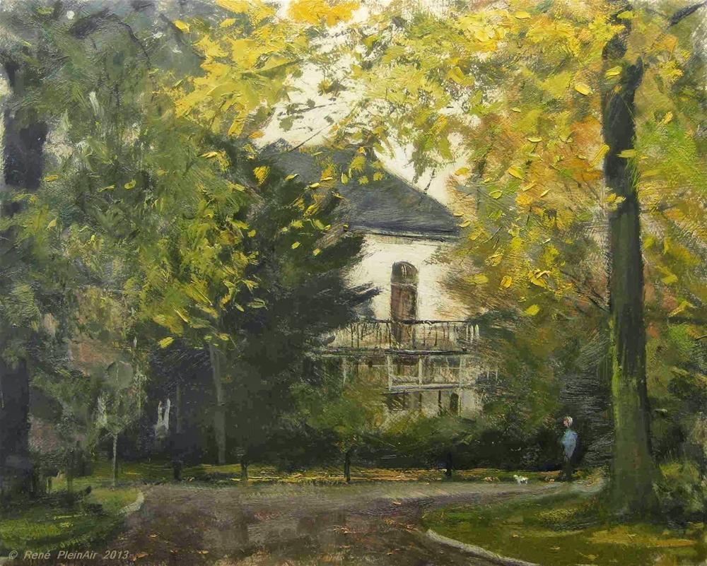 """Golden stroll Doetinchem, Holland."" original fine art by René PleinAir"