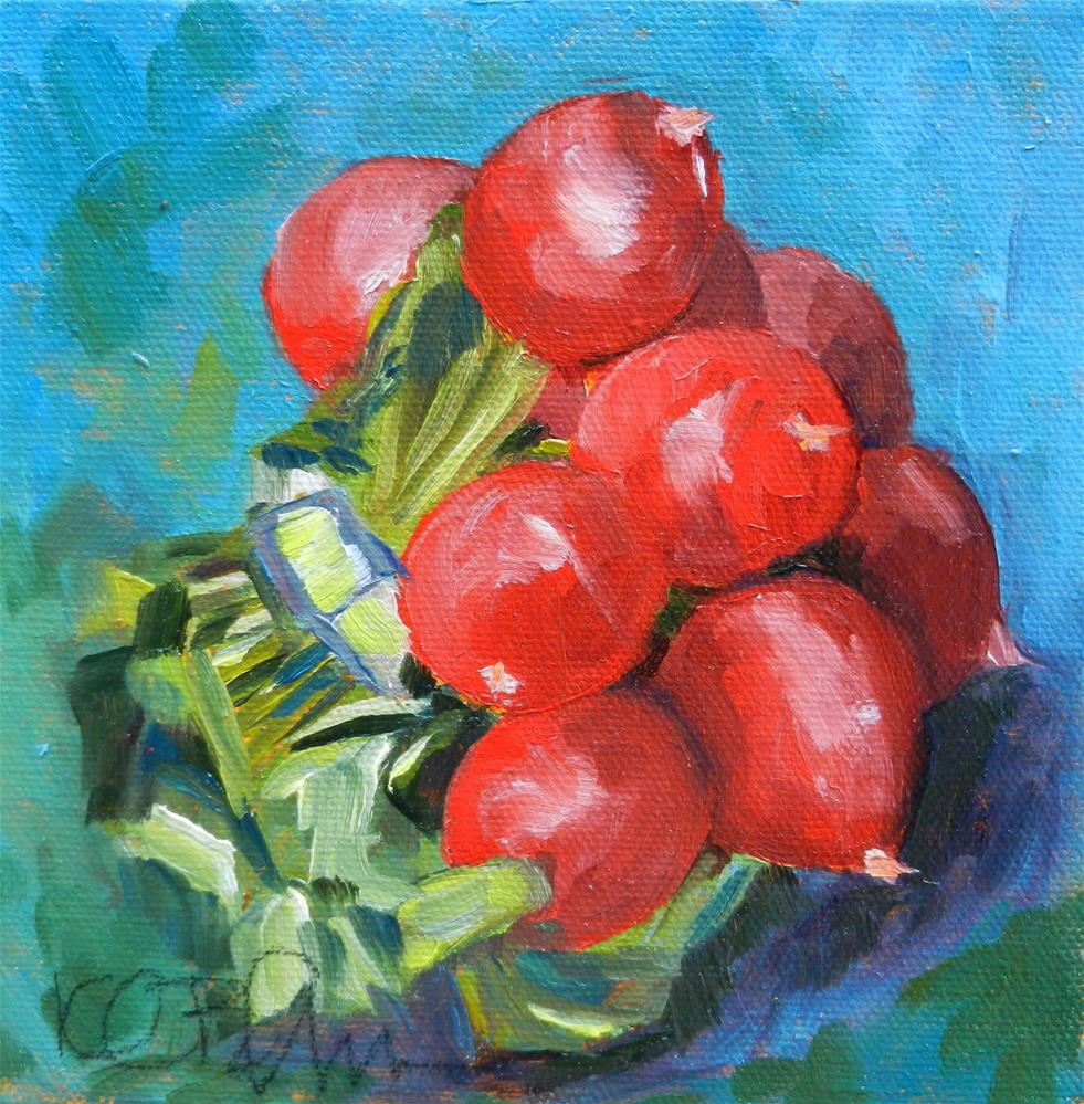 """Radishes"" original fine art by Kathy Broyles"