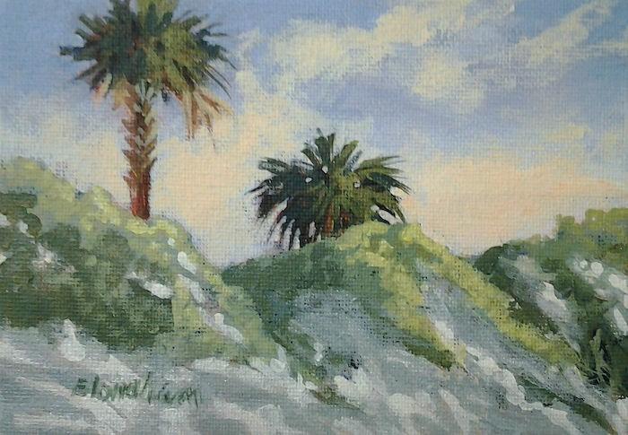 """""""Palm Dunes"""" original fine art by Linda Blondheim"""