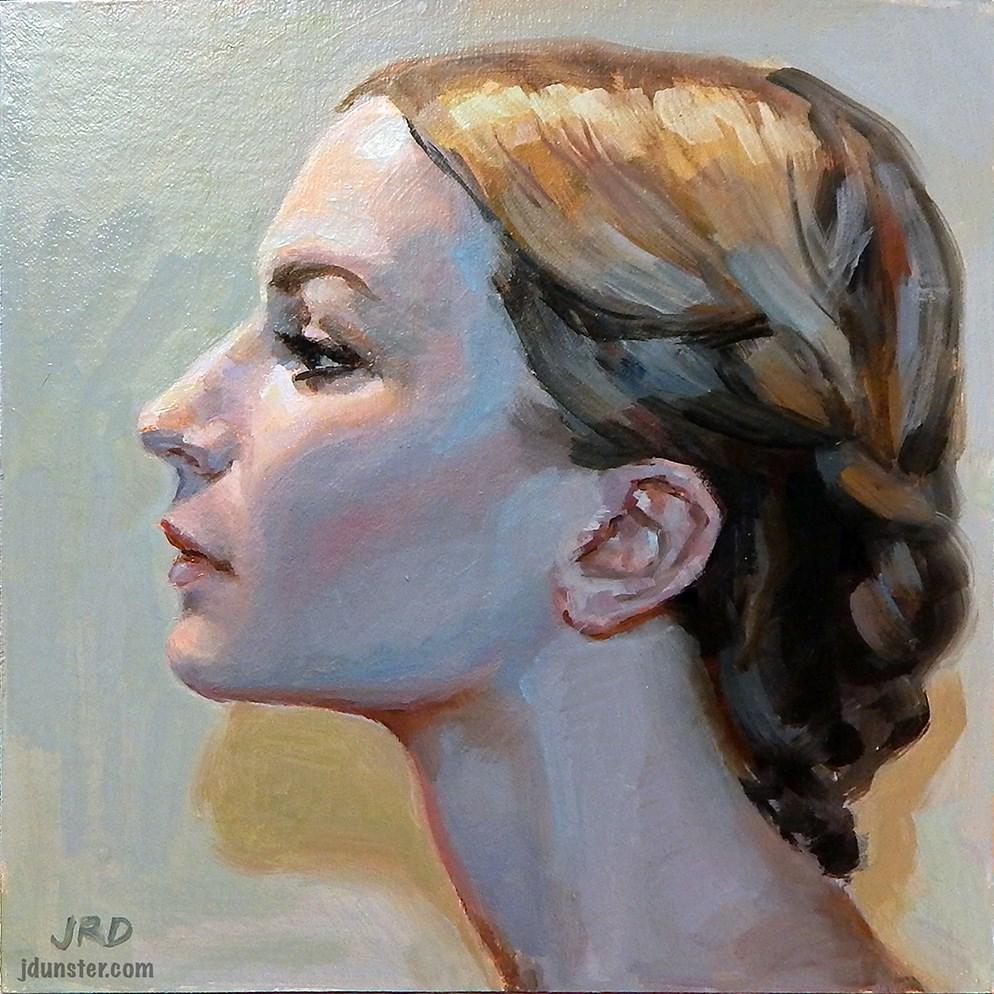 """""""Elegant Profile"""" original fine art by J. Dunster"""