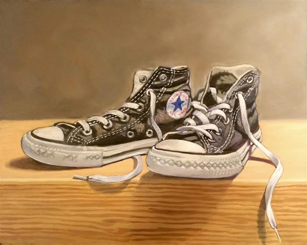 """chucks"" original fine art by Lael Henderson"
