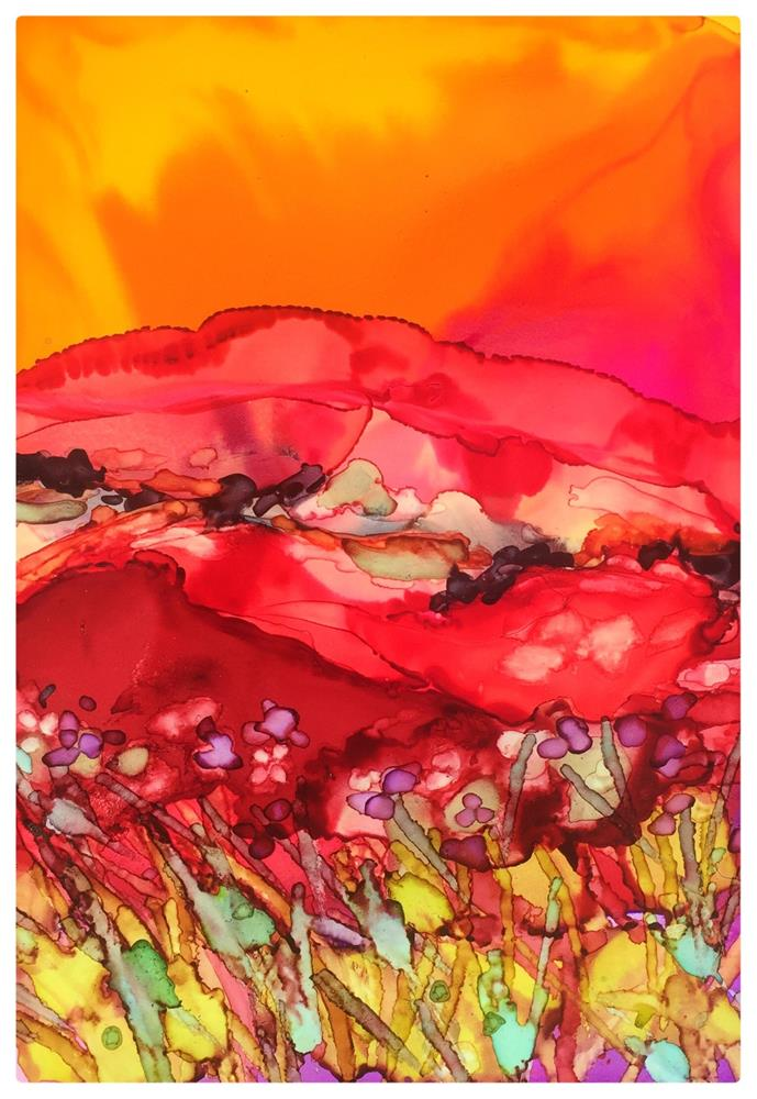 """Red Field II"" original fine art by Kelly Alge"