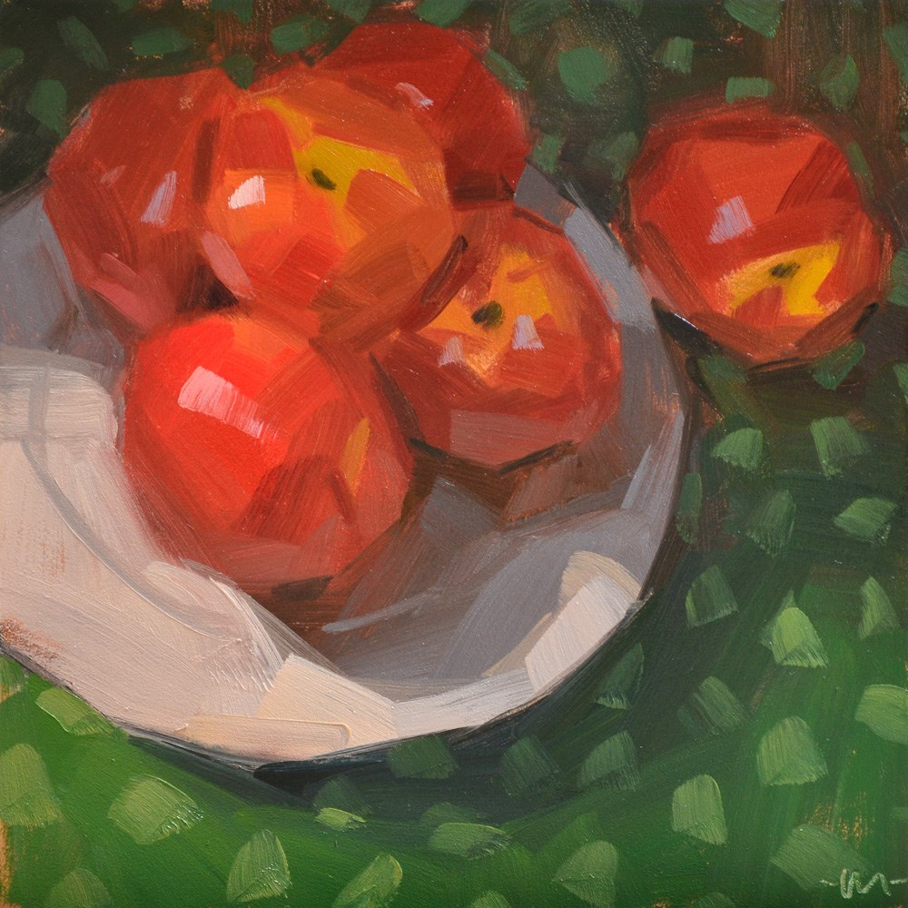 """Too Many Nectarines"" original fine art by Carol Marine"