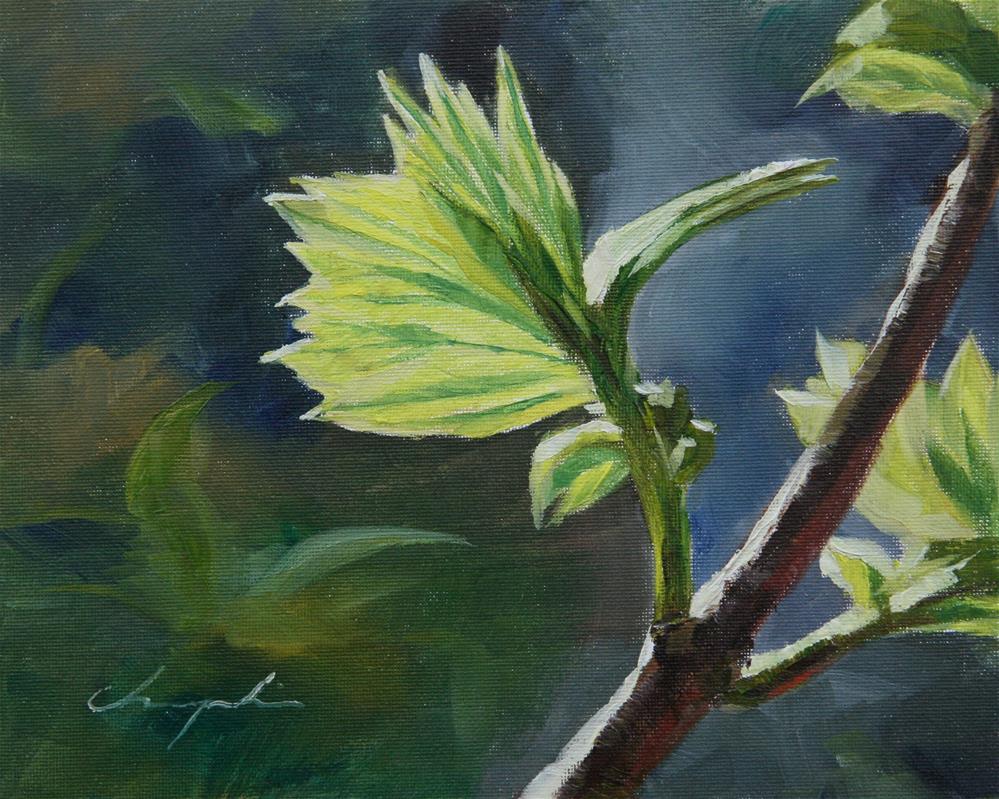 """""""Spring"""" original fine art by Chuang Liu"""