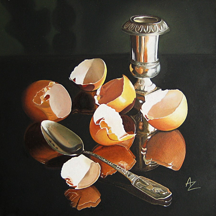 """Eggshells"" original fine art by Alex Zonis"
