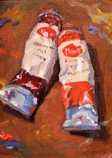 """Primary Red"" original fine art by Ski Holm"