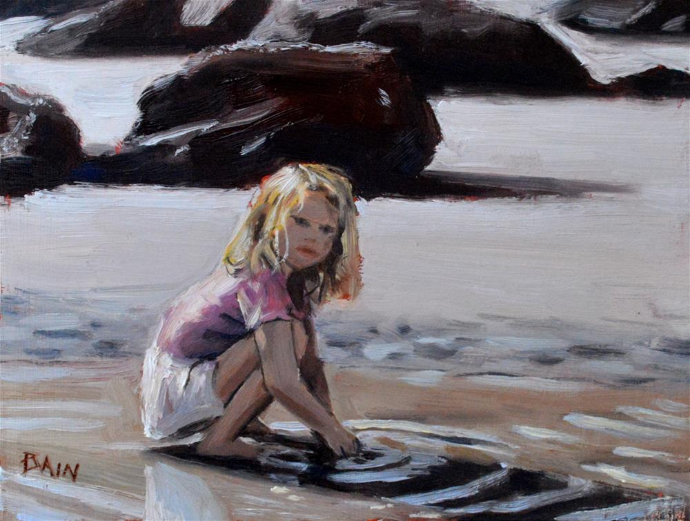 """Tide Pool Play"" original fine art by Peter Bain"