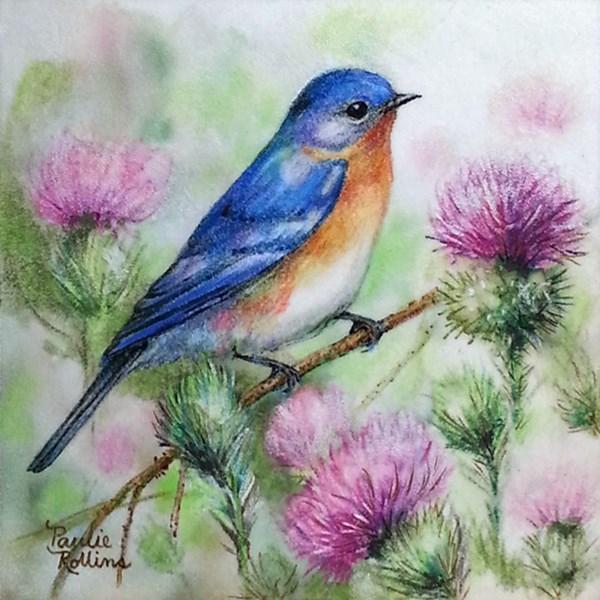 """""""Thistle Garden"""" original fine art by Paulie Rollins"""