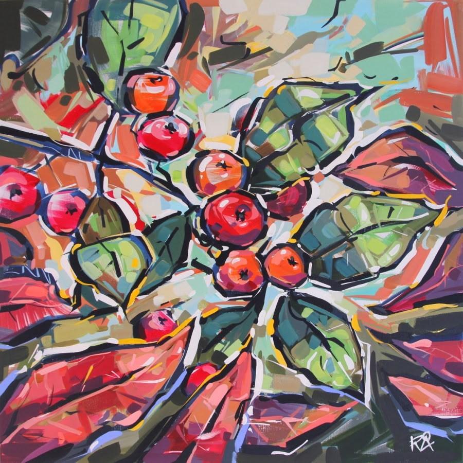 """Rowan Berries 22"" original fine art by Roger Akesson"