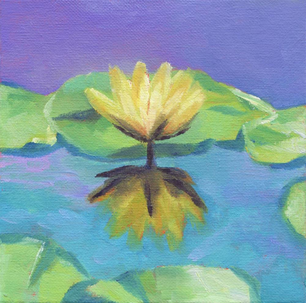"""Water Lily"" original fine art by Susan Bertocci"