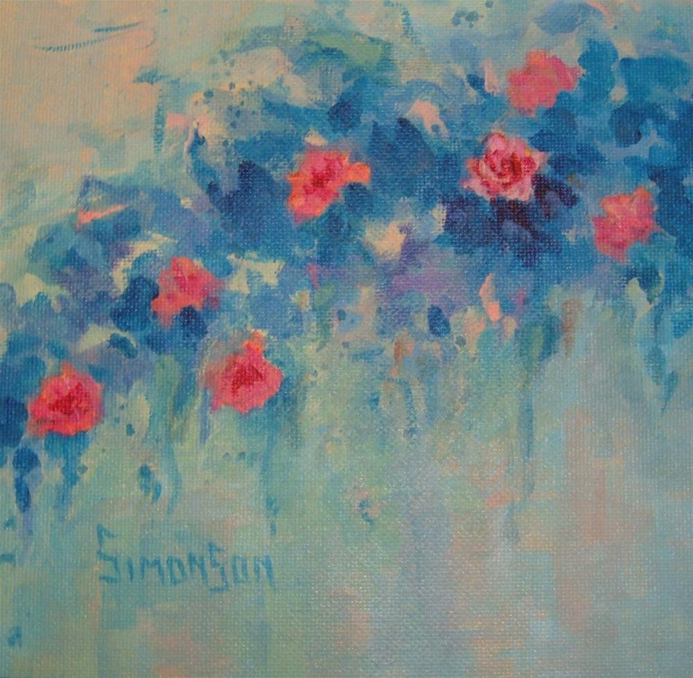 """Hanging Garden VIII"" original fine art by Bev Simonson"