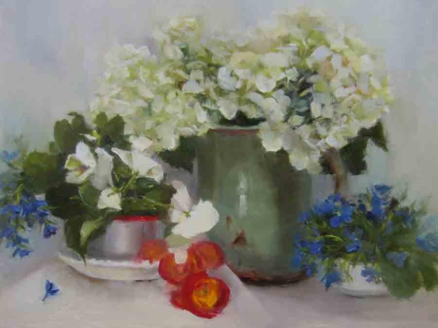 """""""Spring Garden"""" original fine art by Pat Fiorello"""