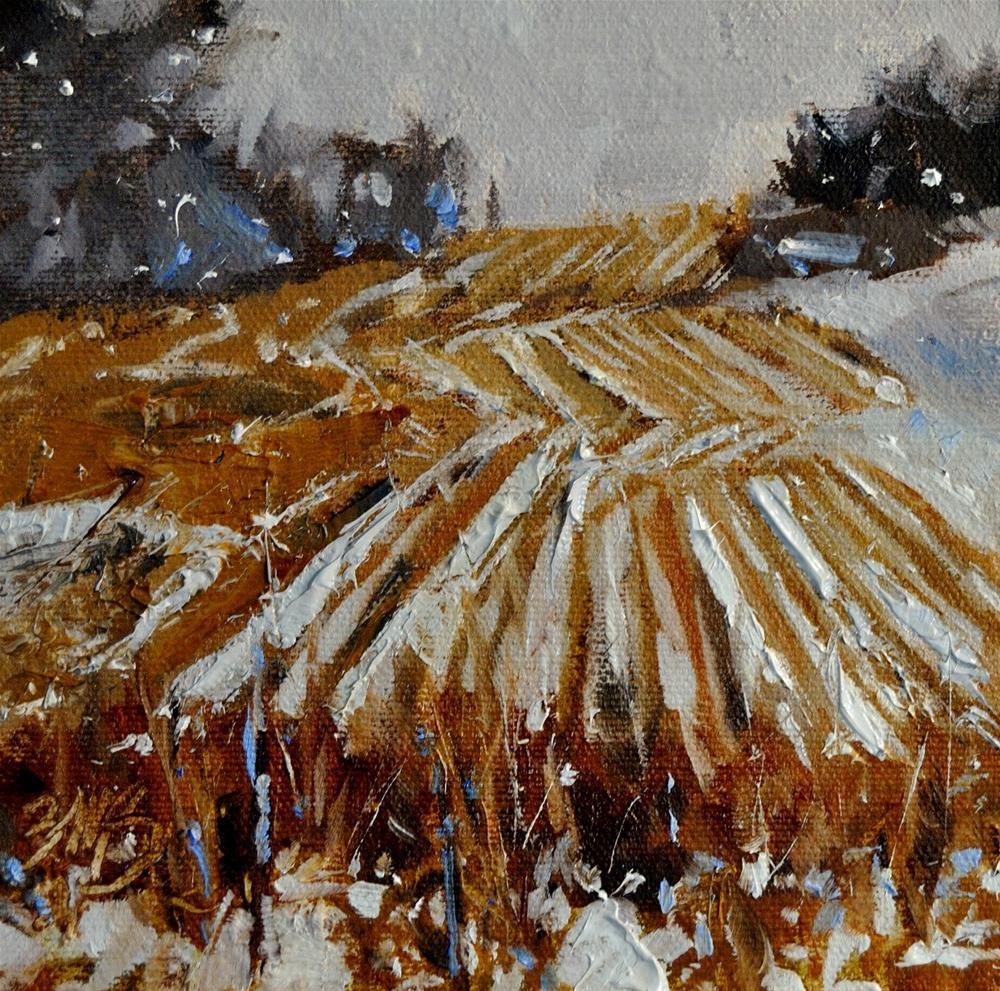 """Winter Fields"" original fine art by Brienne M Brown"
