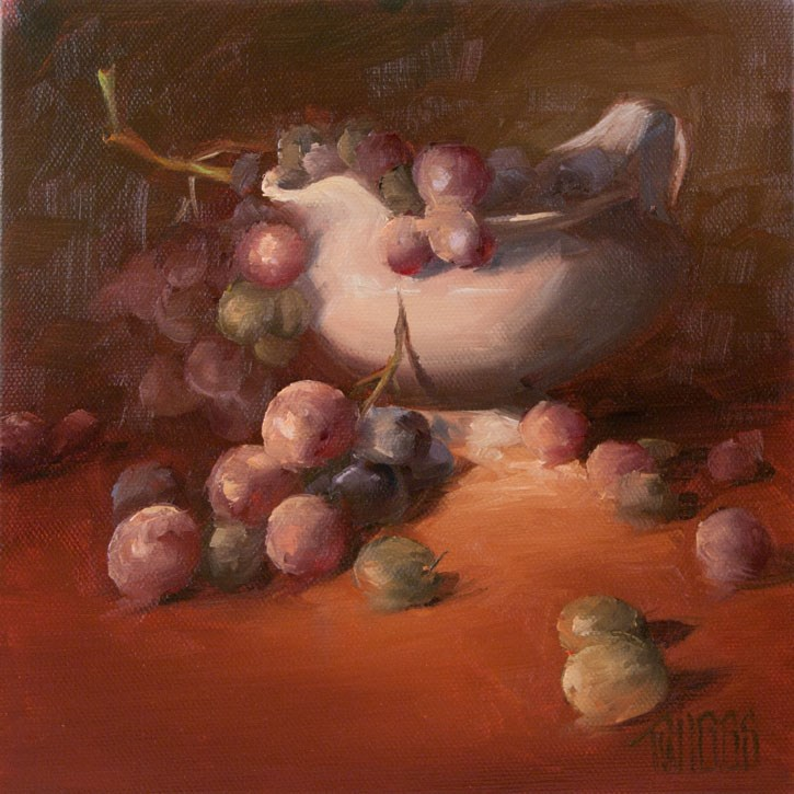 """Grape Study 3"" original fine art by Lori Twiggs"