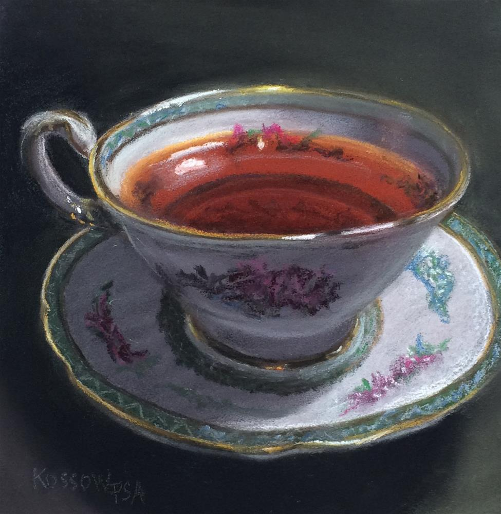 """Another Cup"" original fine art by Cristine Kossow"