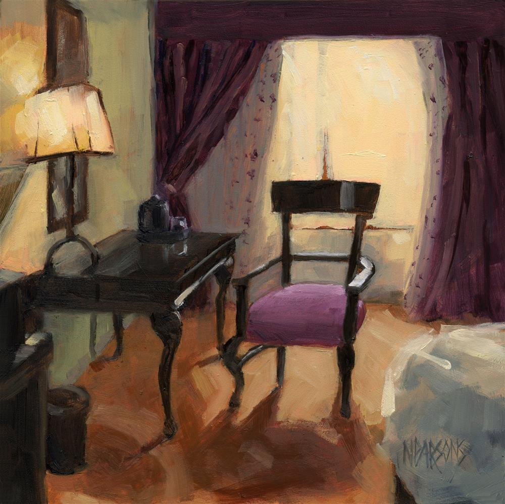 """SOLD - Room Service"" original fine art by Nancy Parsons"