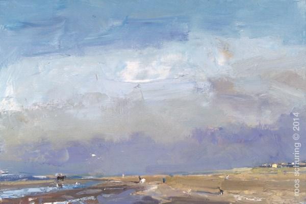 """Seascape Autumn Sun"" original fine art by Roos Schuring"