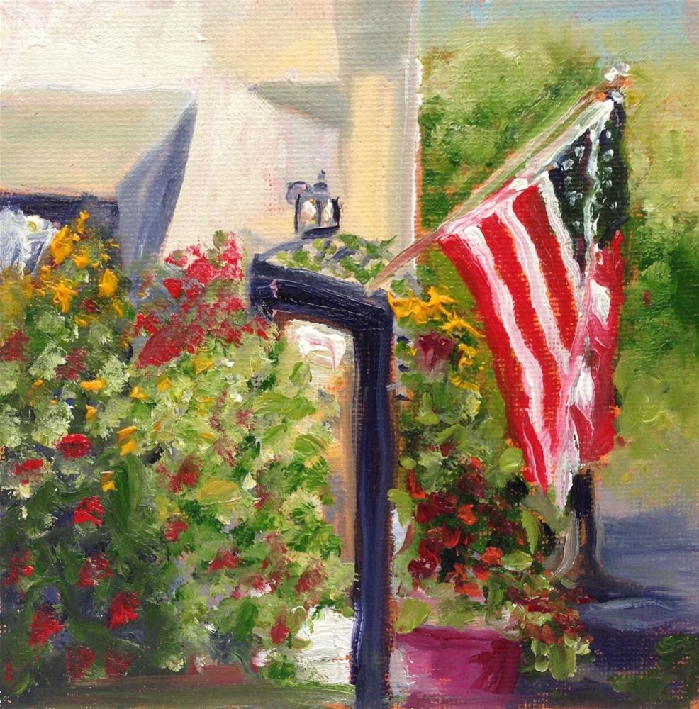 """Happy Labor Day"" original fine art by Gayle Lambeth"