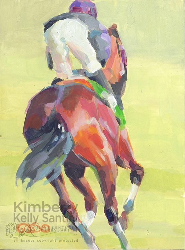 """On the Turf II"" original fine art by Kimberly Santini"