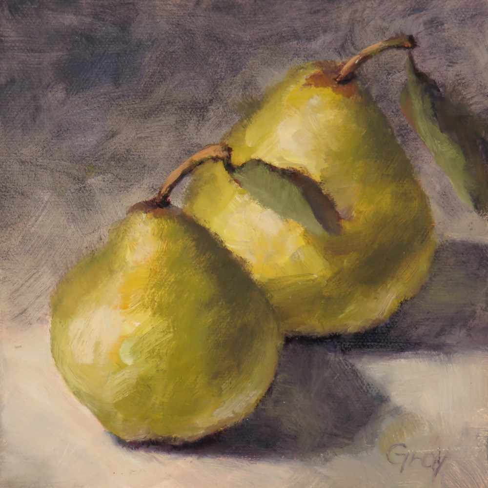 """A Pair of Pears"" original fine art by Naomi Gray"