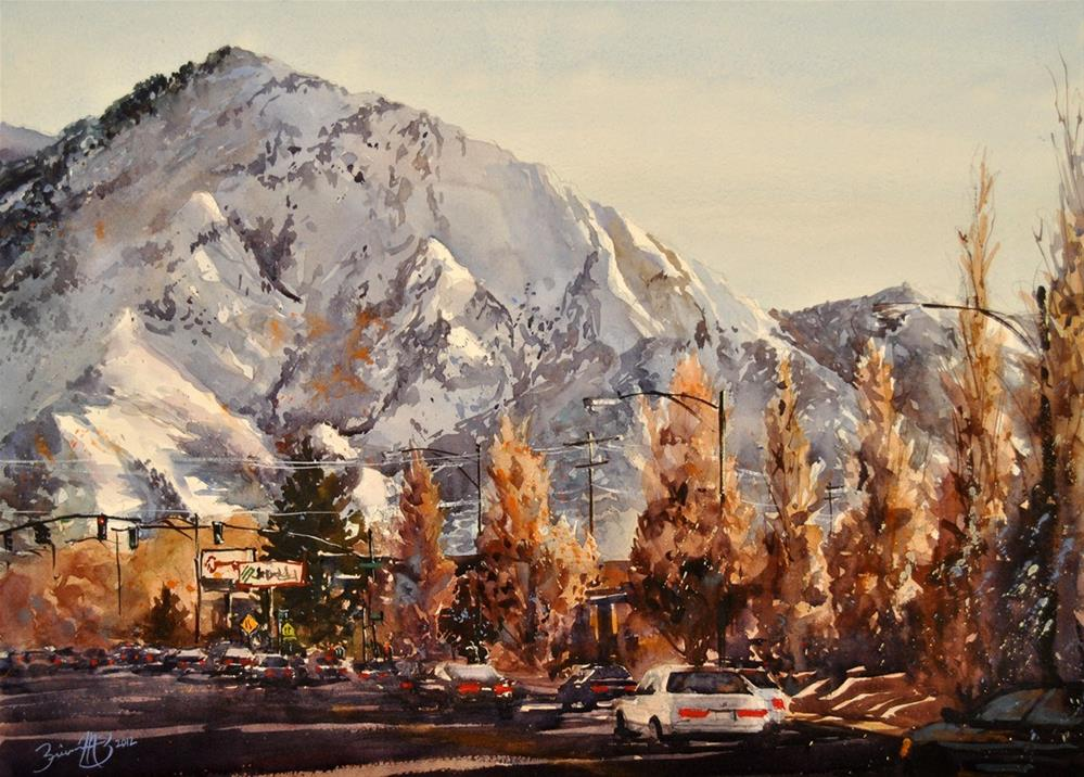 """Mount Olympus"" original fine art by Brienne M Brown"