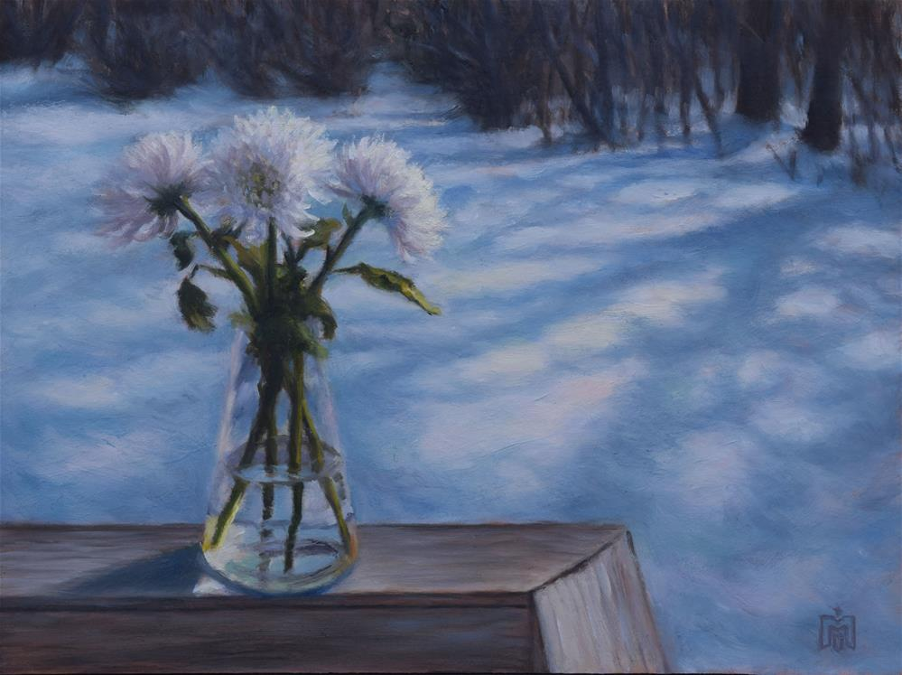 """White Spring"" original fine art by Melissa  Imossi"