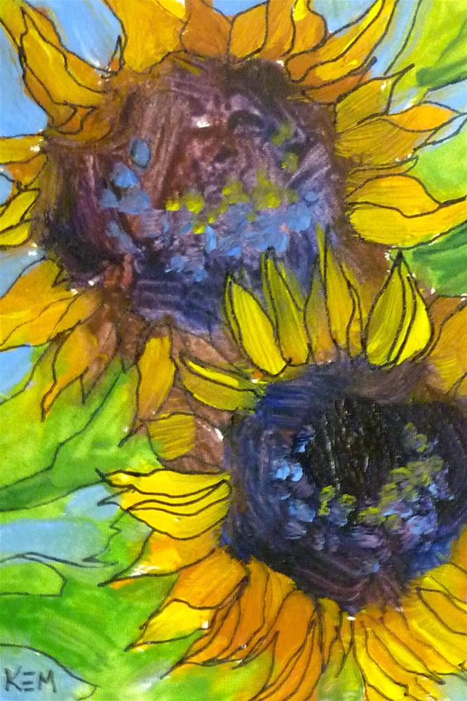 """Sunflower I"" original fine art by Karen Margulis"