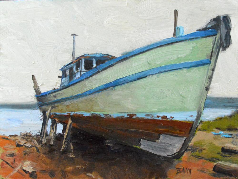 """""""Waiting for Repairs"""" original fine art by Peter Bain"""