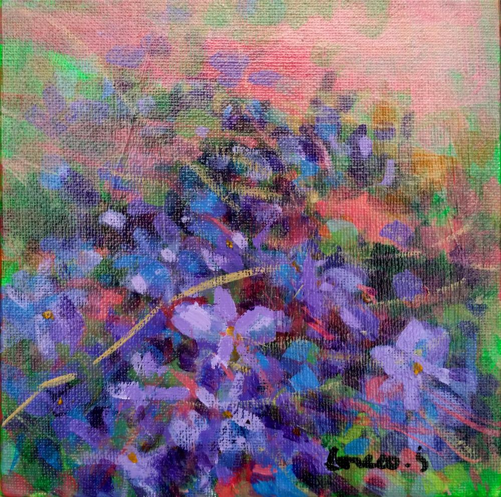 """field of violets"" original fine art by salvatore greco"