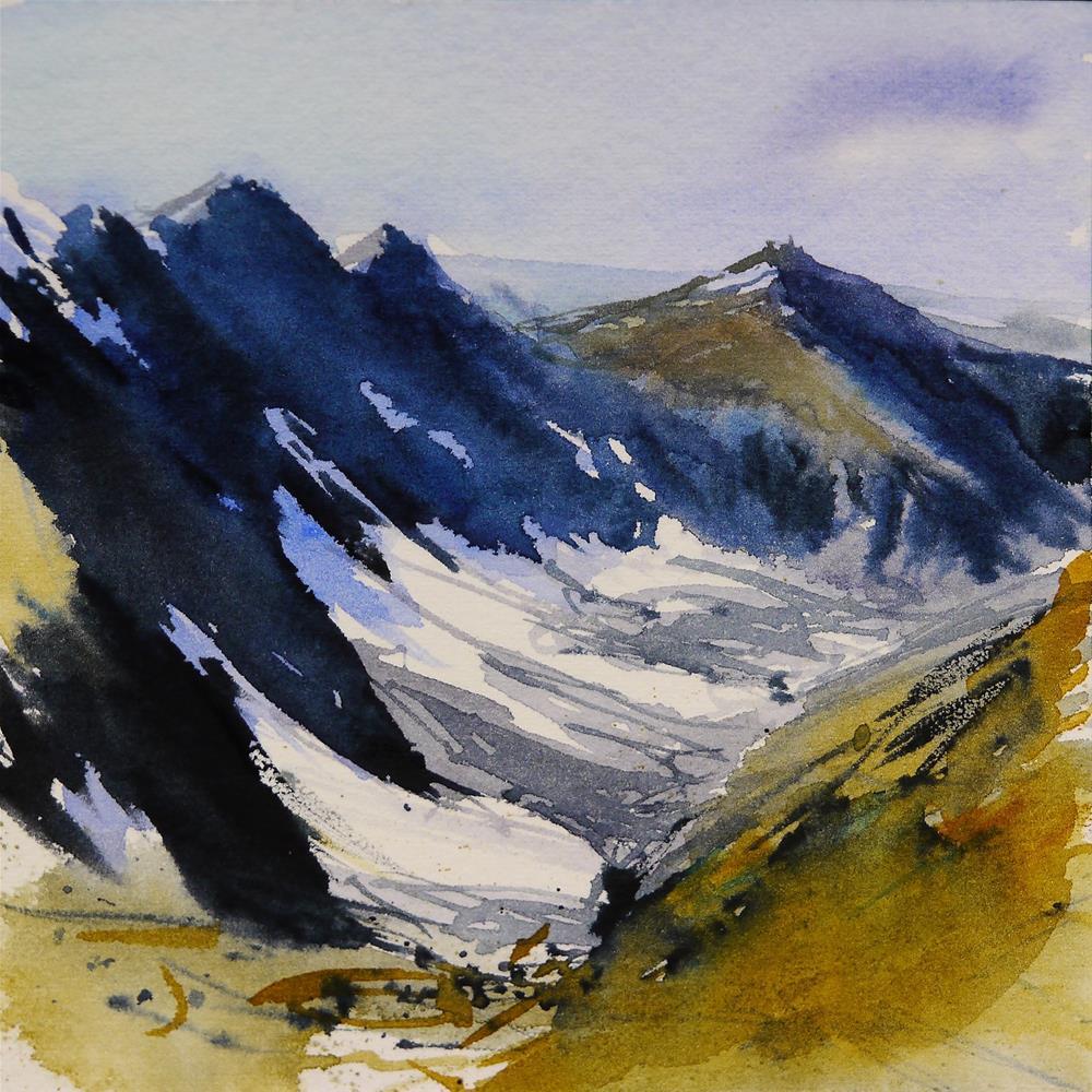 """snow"" original fine art by Beata Musial-Tomaszewska"