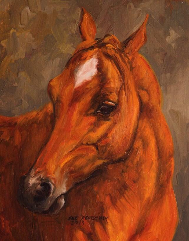 """""""Chestnut Arab"""" original fine art by Sue Deutscher"""