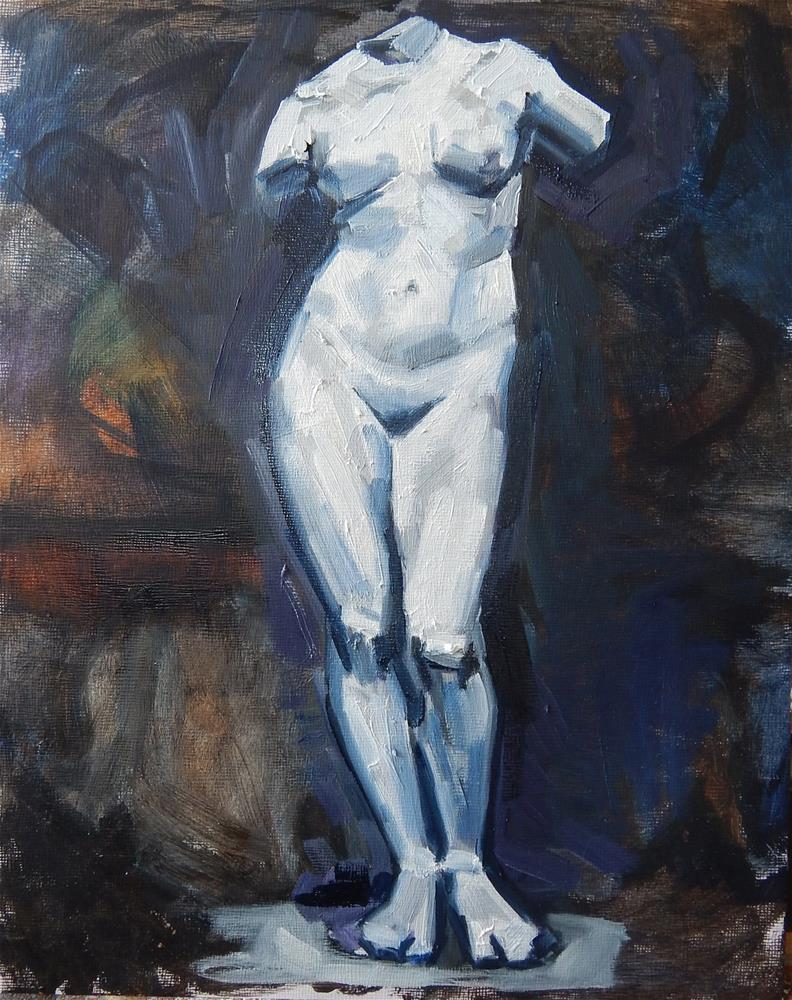 """Study of a Greek Statue"" original fine art by Megan Schembre"