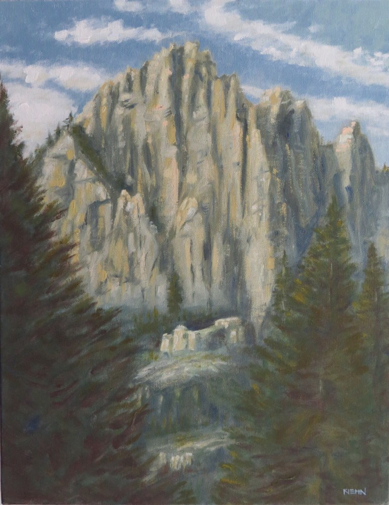 """Castle Crags"" original fine art by Richard Kiehn"