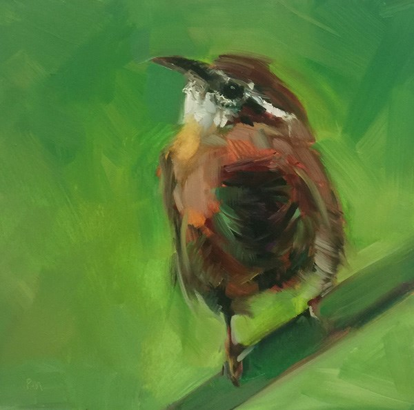 """The Winsome Wren"" original fine art by Patti McNutt"