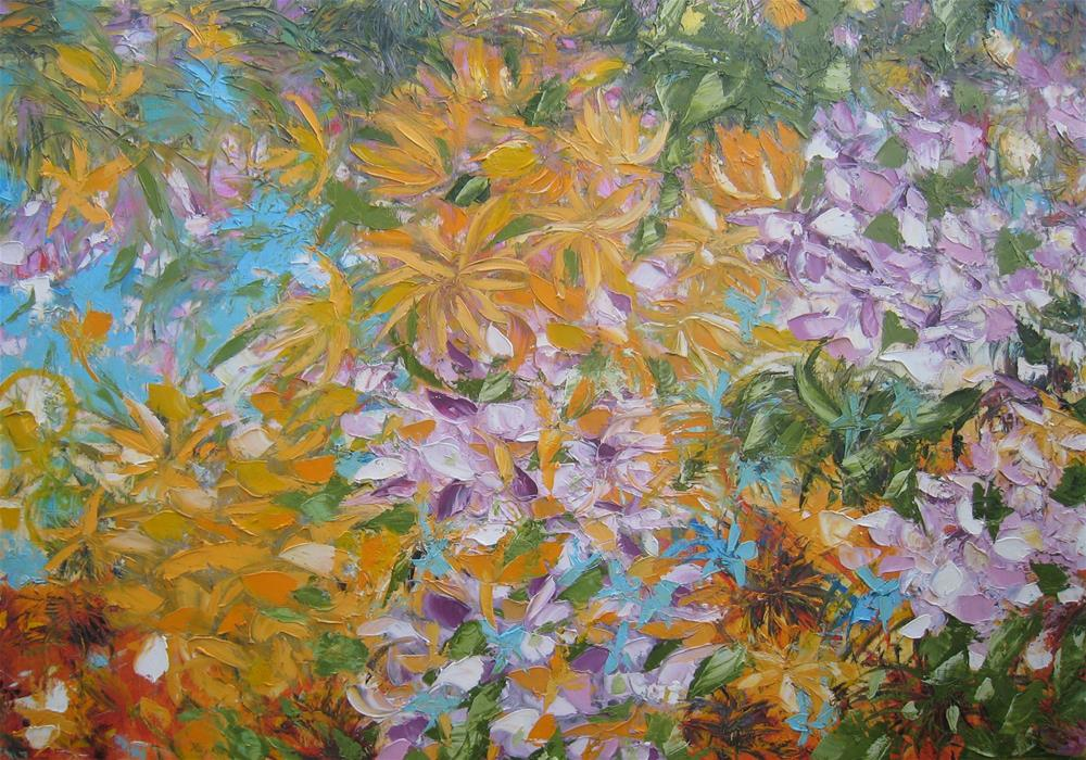 """Summer bloom"" original fine art by Elena Lunetskaya"