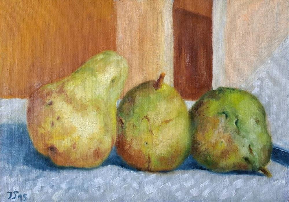 """""""3 pears"""" original fine art by Yuriy Semyonov"""