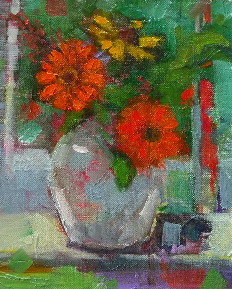"""Summer Flowers"" original fine art by Carol Josefiak"