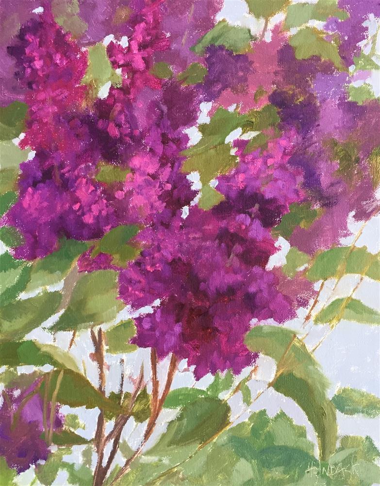 """Spring Lilacs"" original fine art by Pam Holnback"