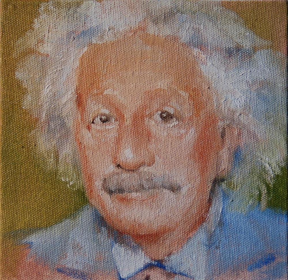 """Albert Einstein"" original fine art by V. DeBak"