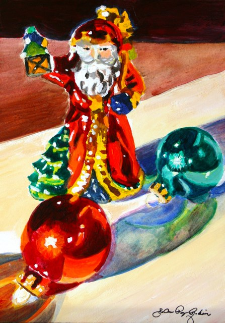 """Glass Ornaments"" original fine art by JoAnne Perez Robinson"