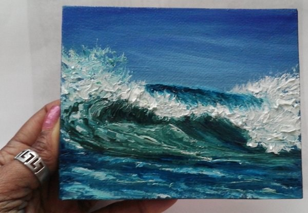 """Wave"" original fine art by Camille Morgan"