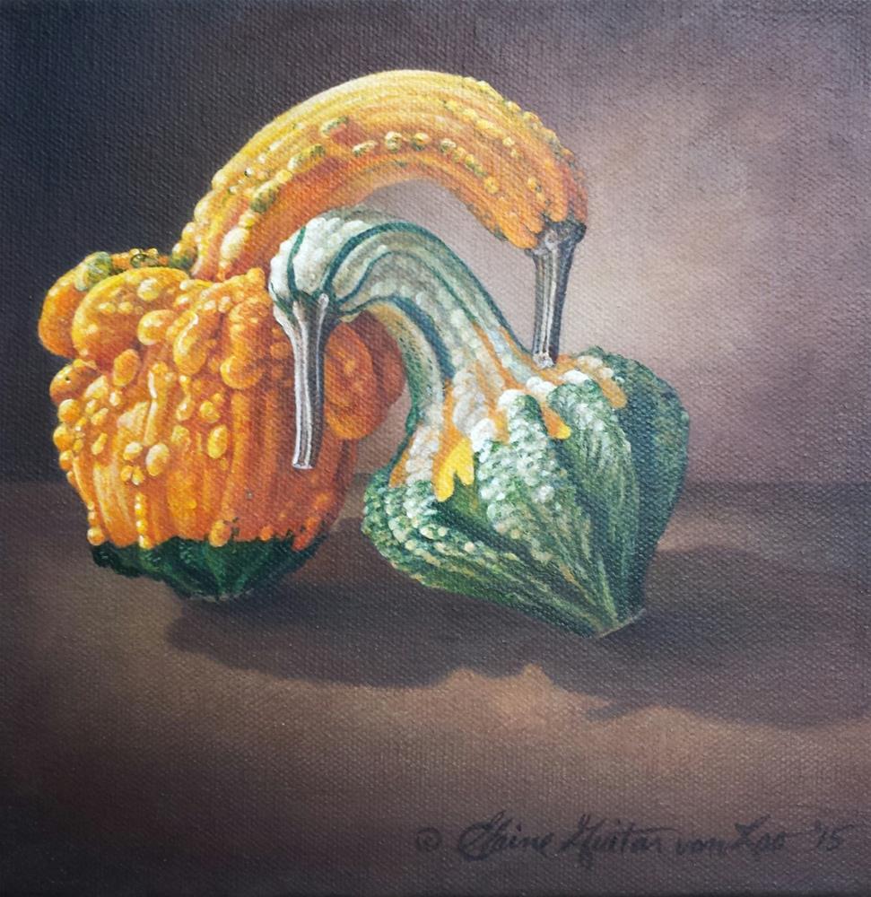 """Gourd Study #1"" original fine art by Elaine Guitar van Loo"